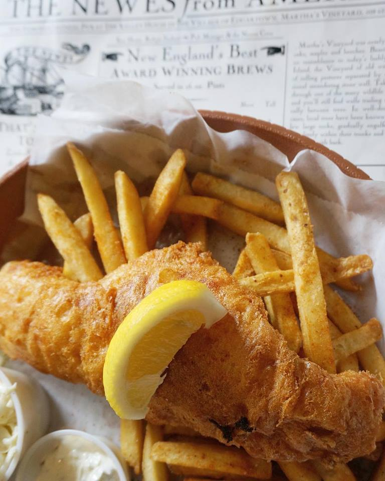 Fish and Chips at Newes from America