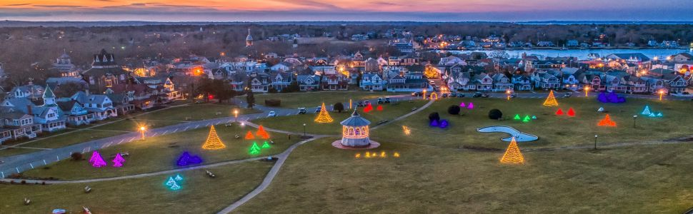 Oak Bluffs dressed up for the holidays