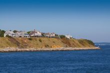 A view of homes on Martha's Vineyard